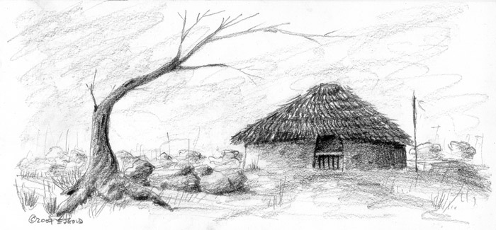 Thatched Roof Mud Hut Baguio Luzon Pi